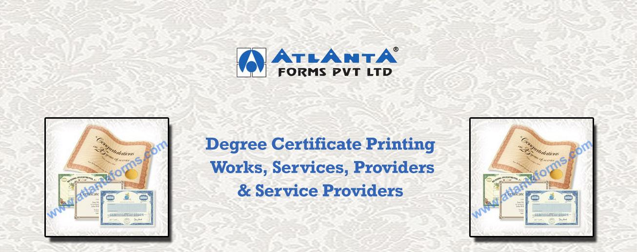 Degree Certificate Printing