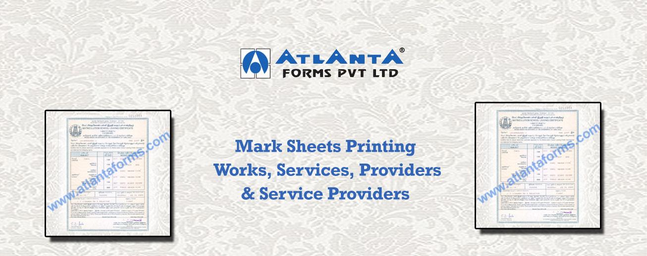 Mark Sheets Printing
